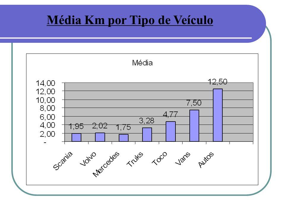 Média Km por Tipo de Veículo