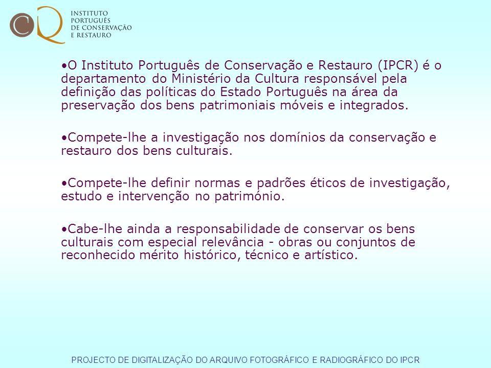 O Instituto Português de Conservação e Restauro (IPCR) é o departamento do Ministério da Cultura responsável pela definição das políticas do Estado Português na área da preservação dos bens patrimoniais móveis e integrados.