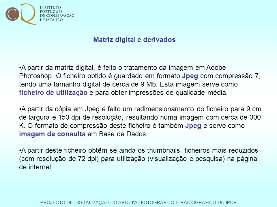 Matriz digital e derivados
