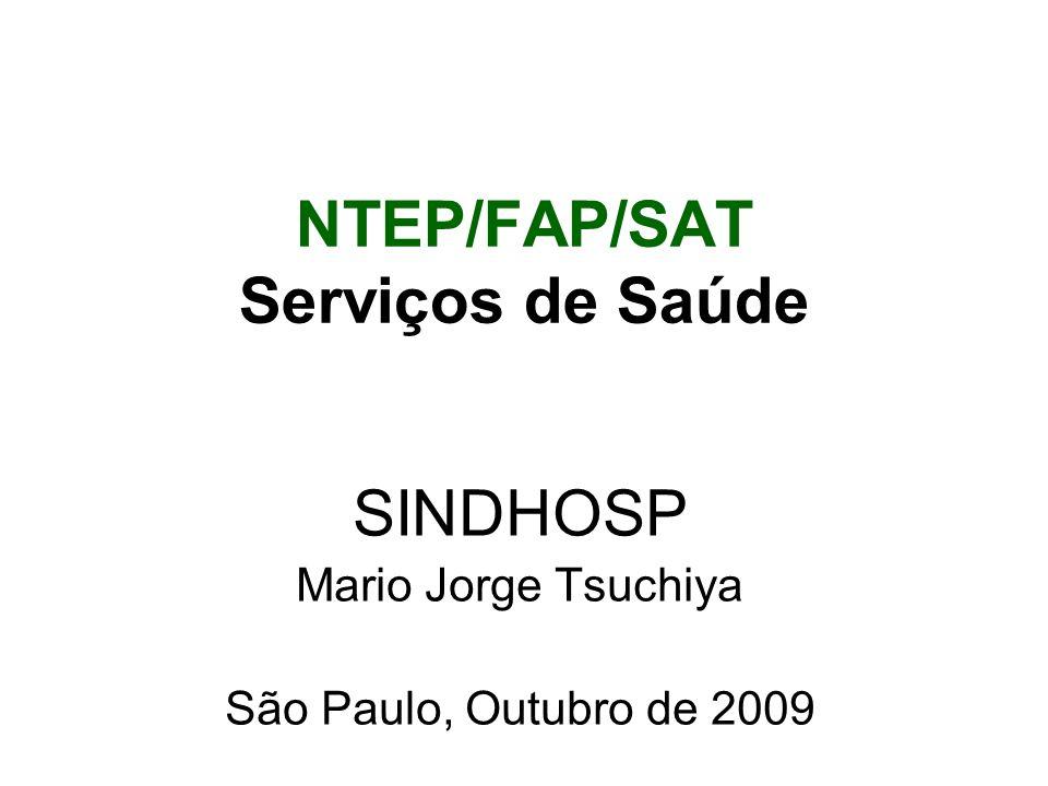 NTEP/FAP/SAT Serviços de Saúde