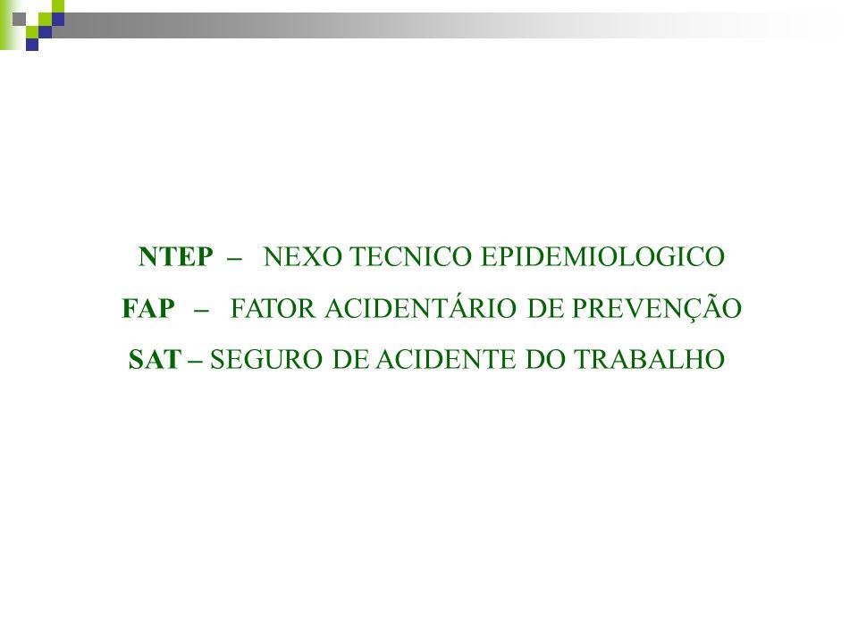 NTEP – NEXO TECNICO EPIDEMIOLOGICO