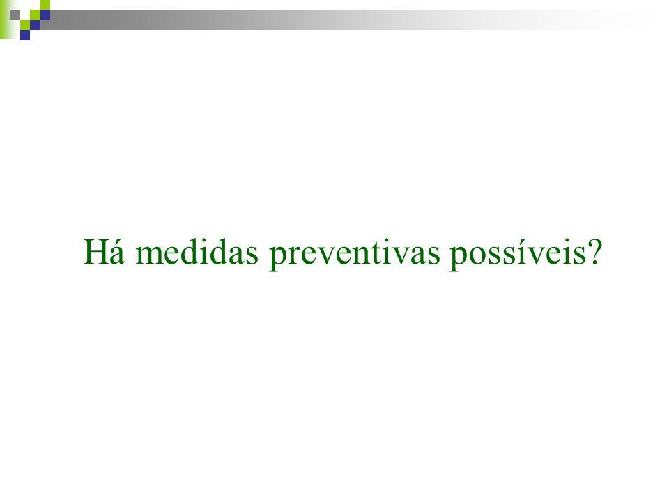 Há medidas preventivas possíveis
