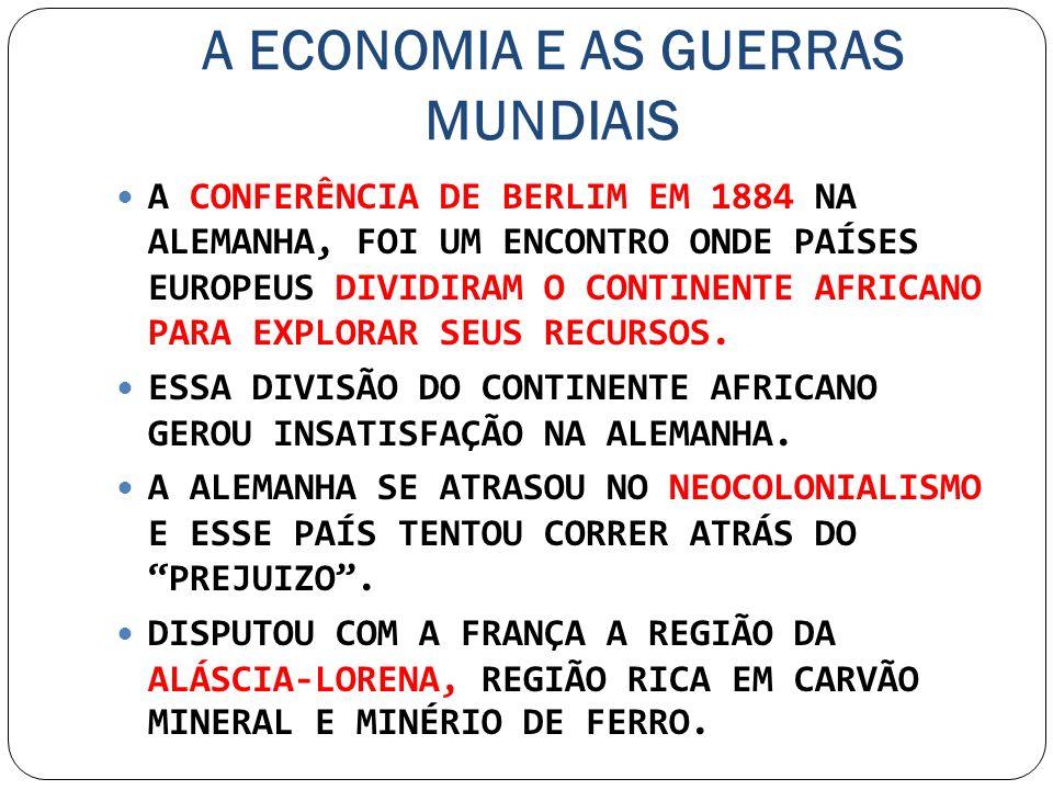 A ECONOMIA E AS GUERRAS MUNDIAIS