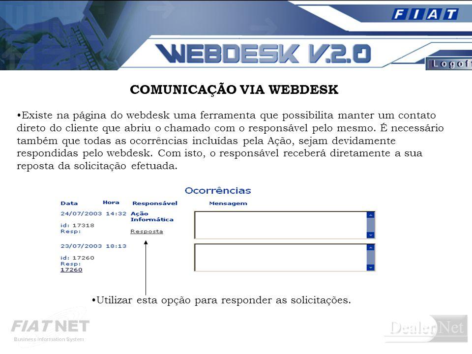 COMUNICAÇÃO VIA WEBDESK