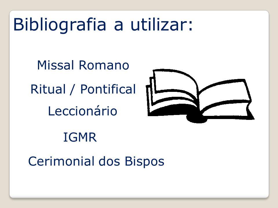 Bibliografia a utilizar: