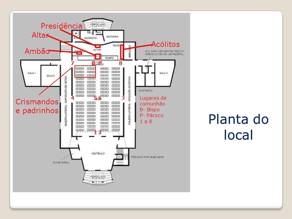 Planta do local Presidência Altar Acólitos Ambão
