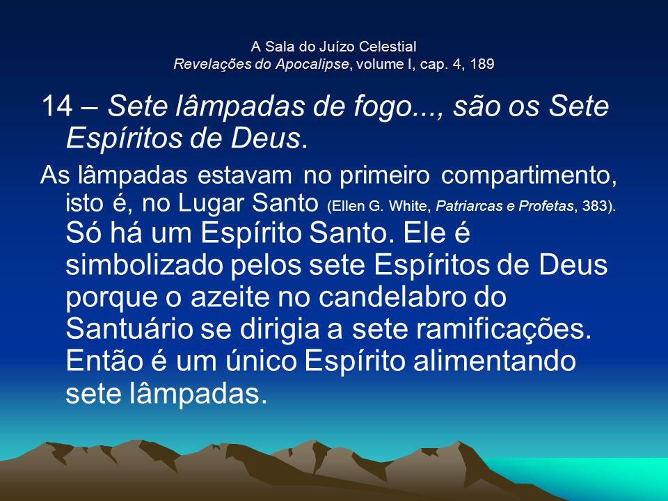 14 – Sete lâmpadas de fogo..., são os Sete Espíritos de Deus.