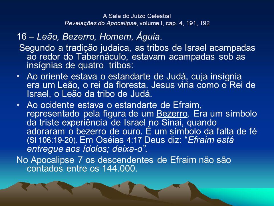 16 – Leão, Bezerro, Homem, Águia.