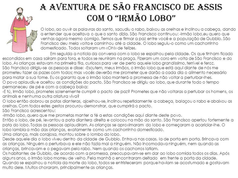A aventura de SÃO FRANCISCO DE ASSIS com o irmão lobo
