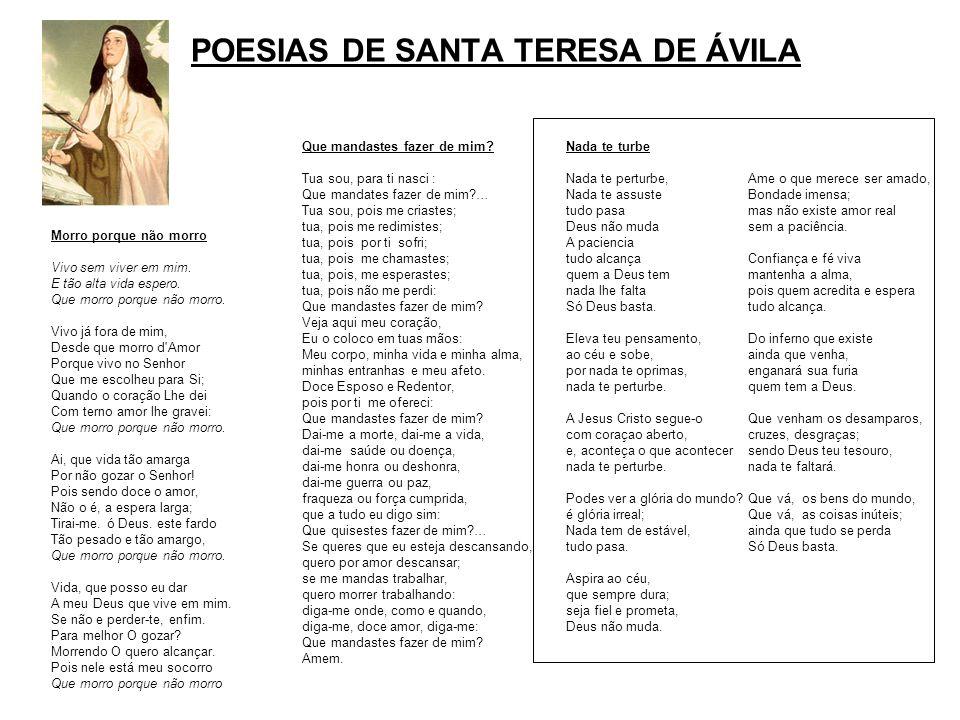 POESIAS DE SANTA TERESA DE ÁVILA
