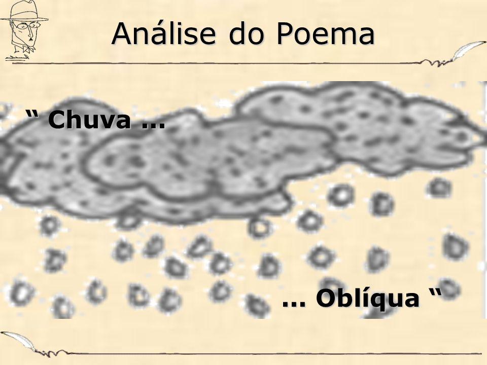 Análise do Poema Chuva ... ... Oblíqua