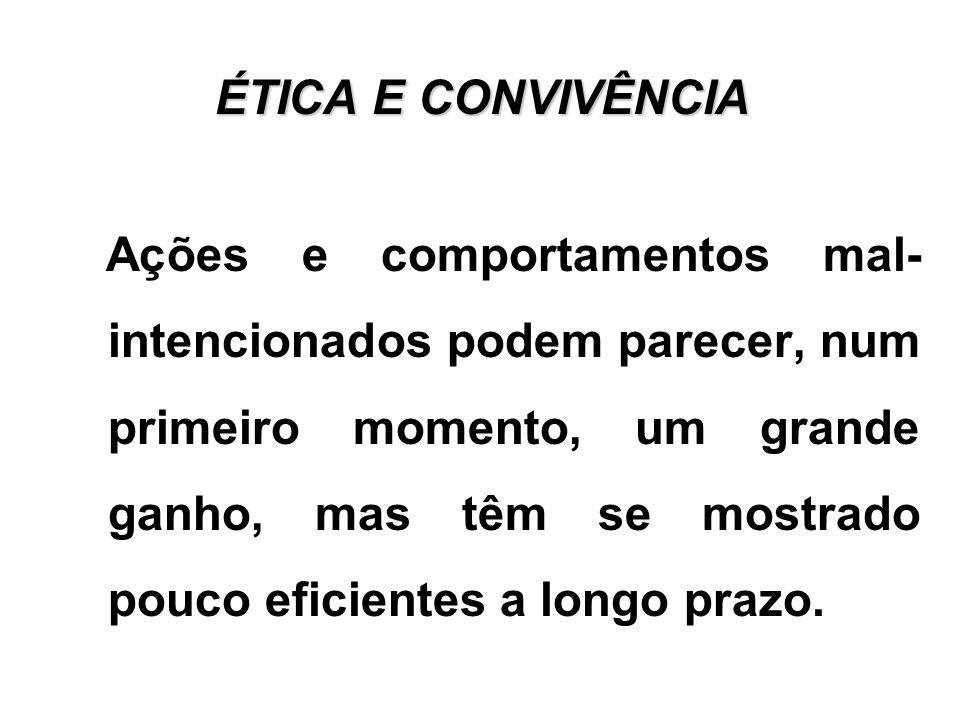 ÉTICA E CONVIVÊNCIA