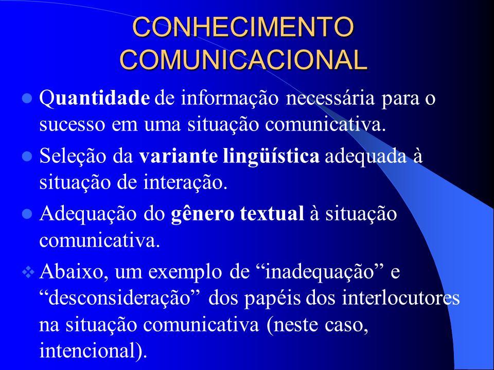 CONHECIMENTO COMUNICACIONAL