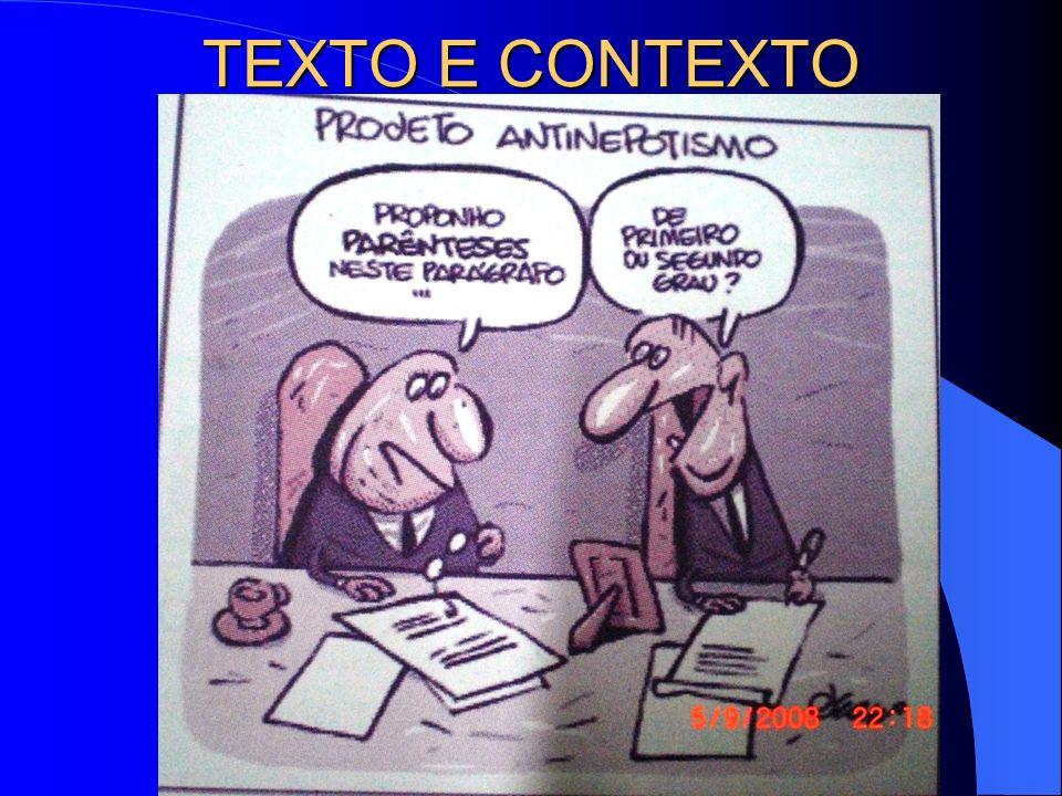 TEXTO E CONTEXTO