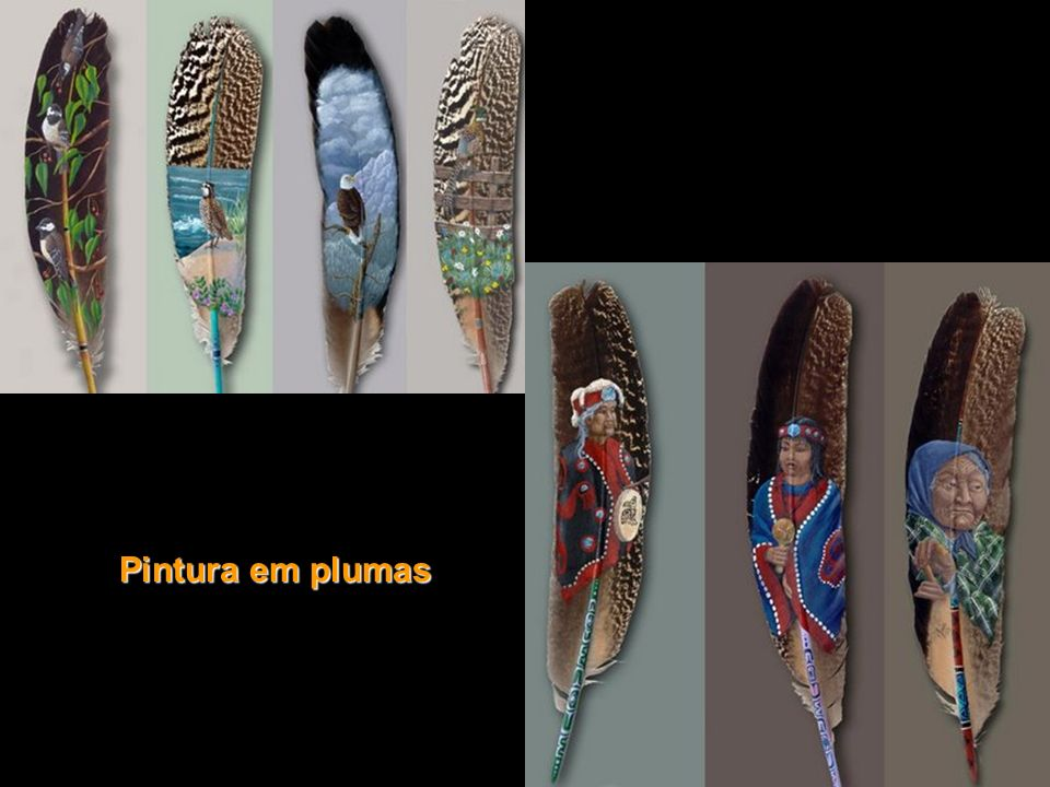 Pintura em plumas
