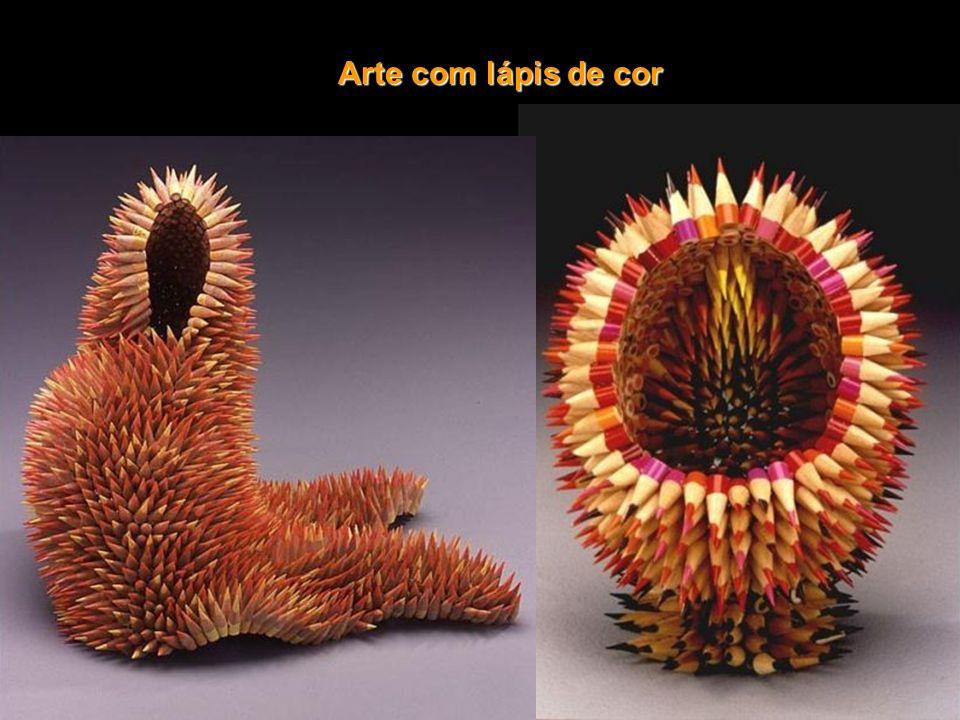 Arte com lápis de cor
