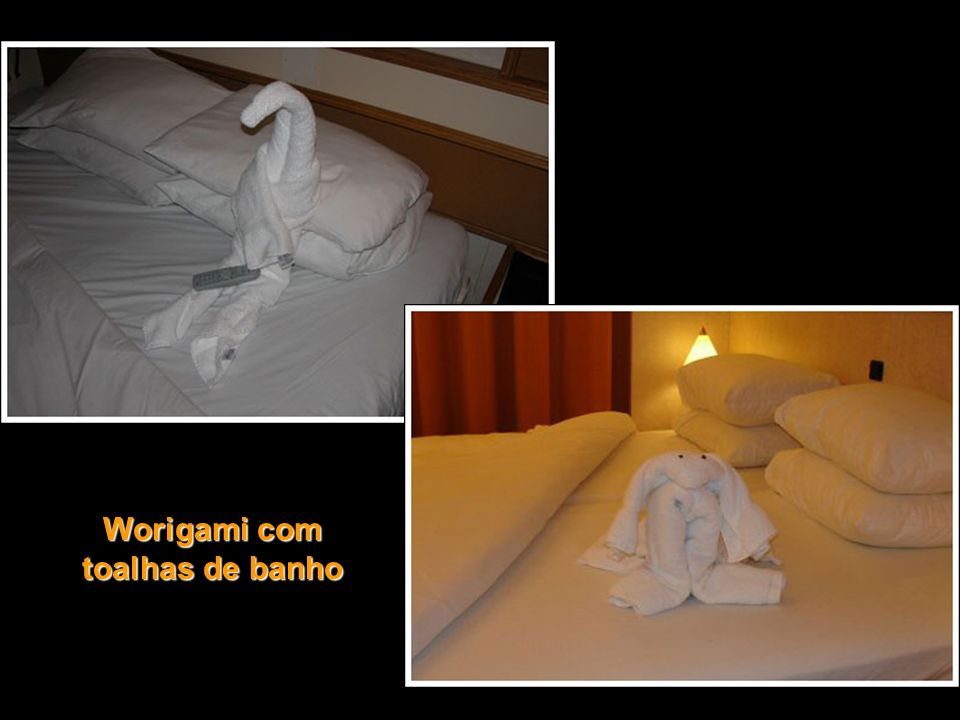 Worigami com toalhas de banho