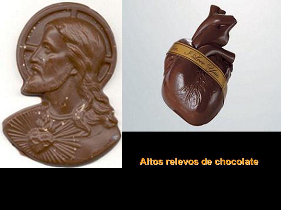Altos relevos de chocolate