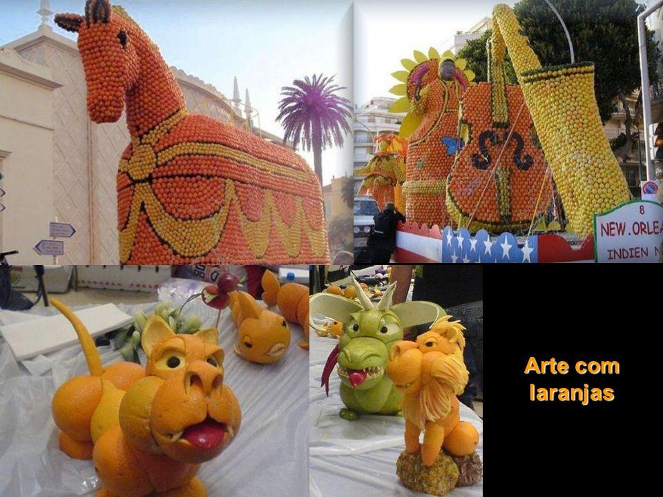 Arte com laranjas