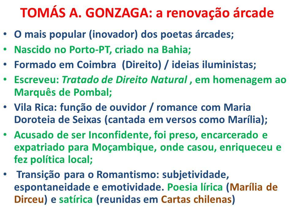 TOMÁS A. GONZAGA: a renovação árcade