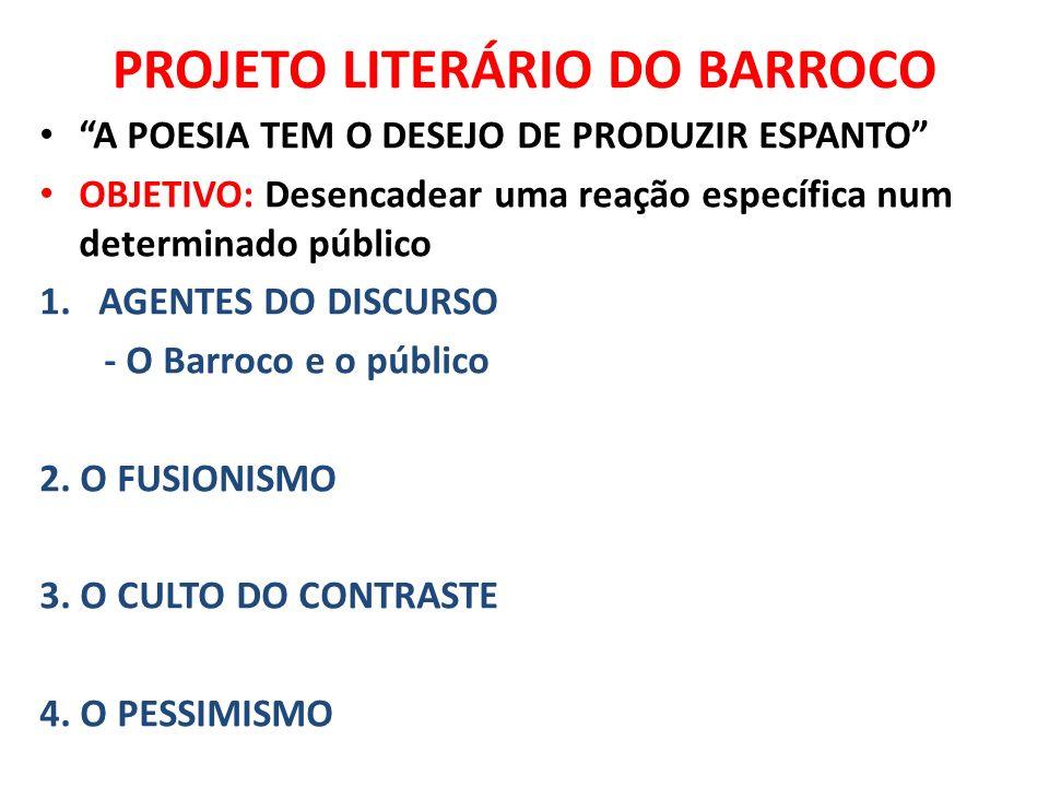 PROJETO LITERÁRIO DO BARROCO