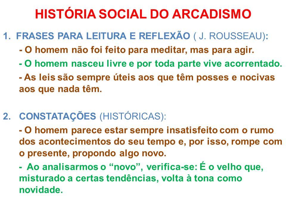 HISTÓRIA SOCIAL DO ARCADISMO
