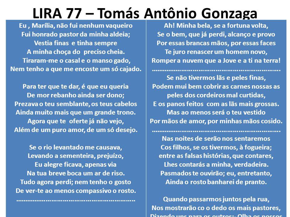 LIRA 77 – Tomás Antônio Gonzaga