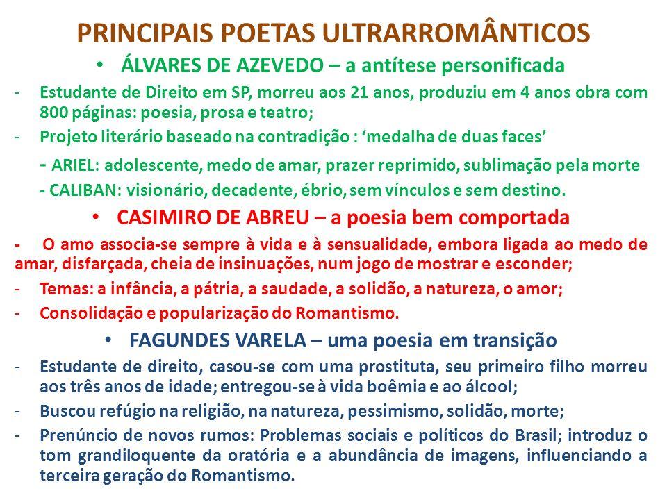 PRINCIPAIS POETAS ULTRARROMÂNTICOS