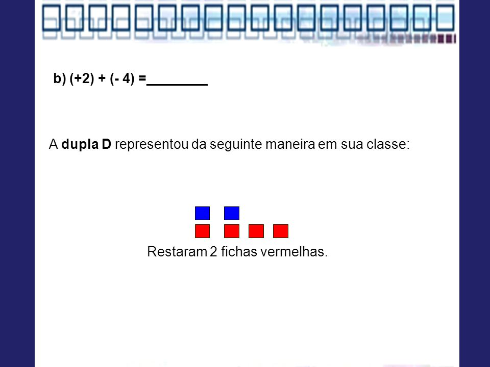 A dupla D representou da seguinte maneira em sua classe: