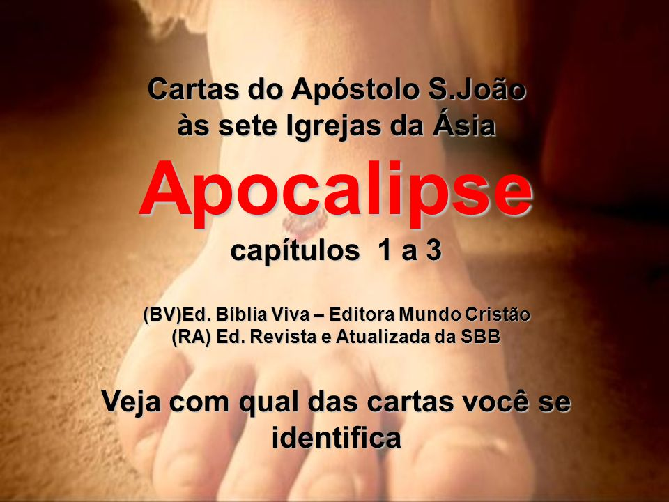 Apocalipse capítulos 1 a 3