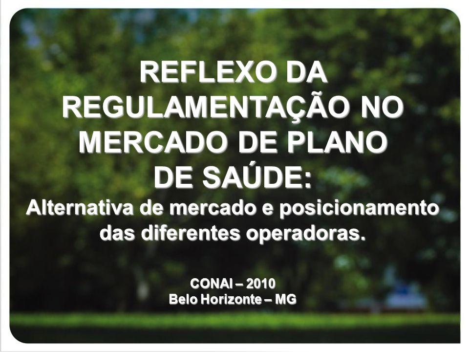 REFLEXO DA REGULAMENTAÇÃO NO MERCADO DE PLANO DE SAÚDE: Alternativa de mercado e posicionamento das diferentes operadoras.