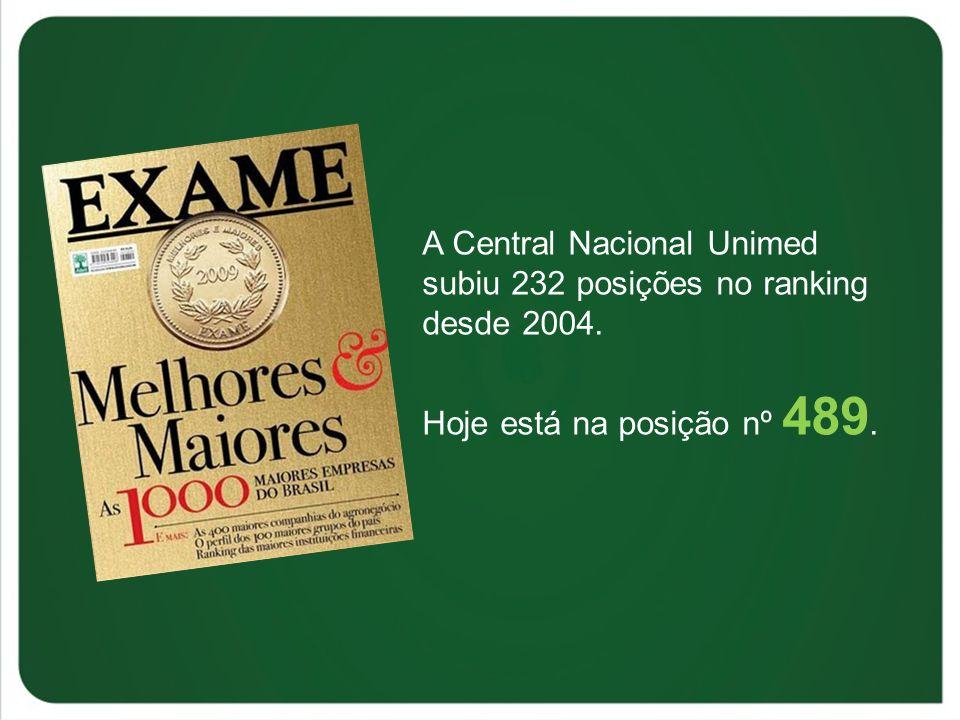 A Central Nacional Unimed subiu 232 posições no ranking desde 2004.