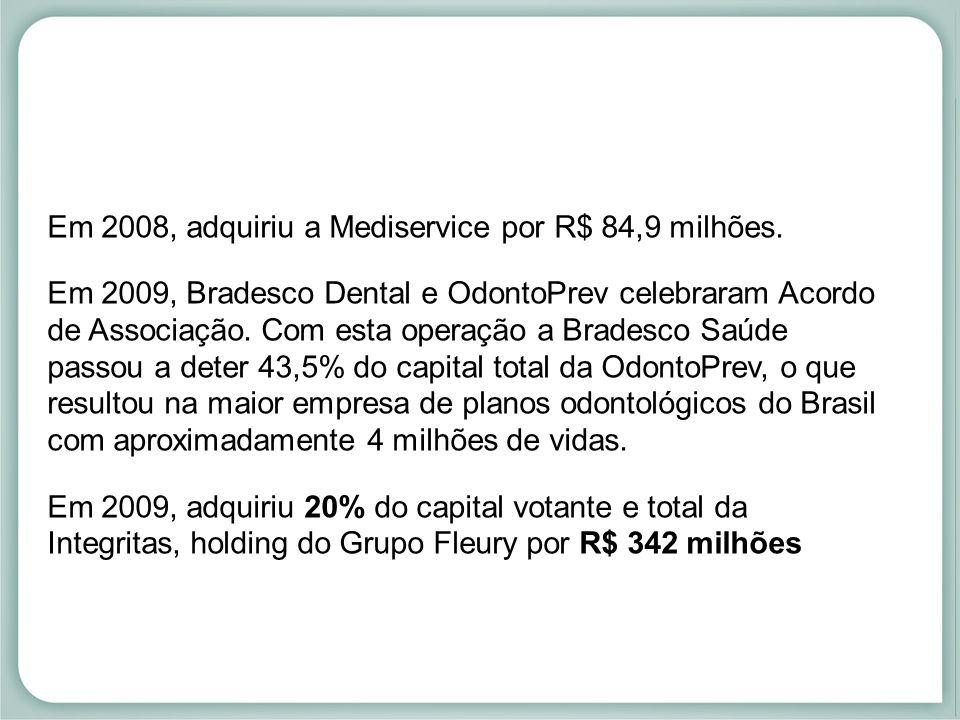 Em 2008, adquiriu a Mediservice por R$ 84,9 milhões.