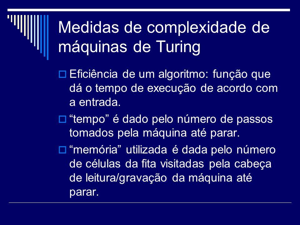 Medidas de complexidade de máquinas de Turing