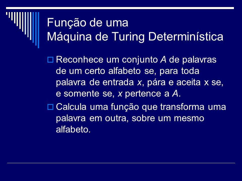 Função de uma Máquina de Turing Determinística