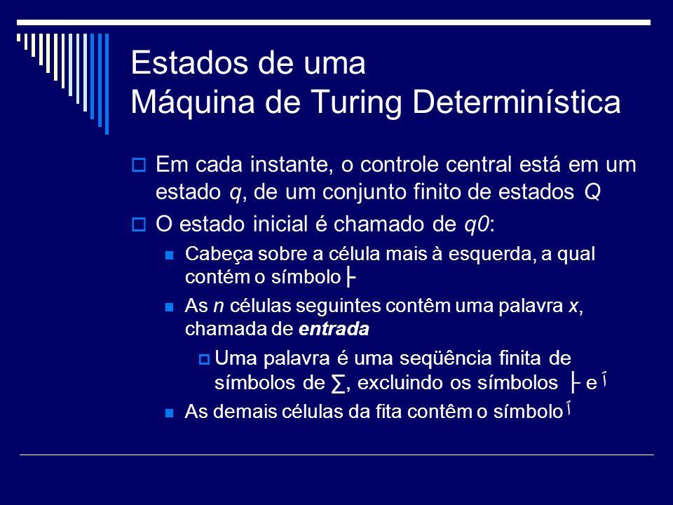 Estados de uma Máquina de Turing Determinística