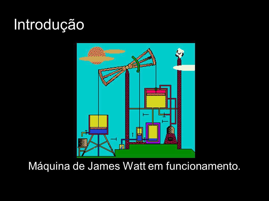 Máquina de James Watt em funcionamento.