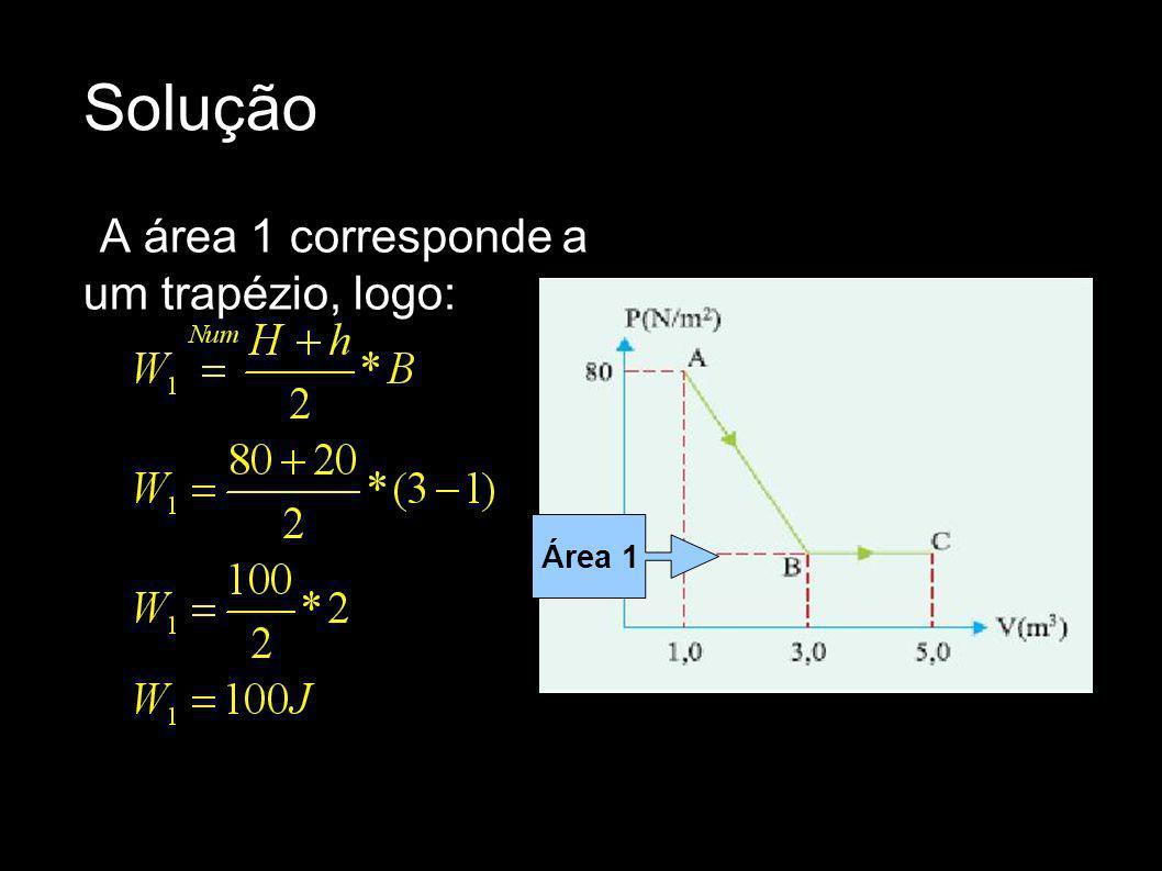 Solução A área 1 corresponde a um trapézio, logo: Área 1
