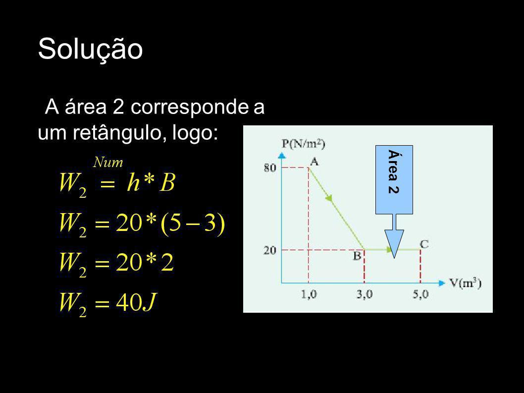 Solução A área 2 corresponde a um retângulo, logo: Área 2