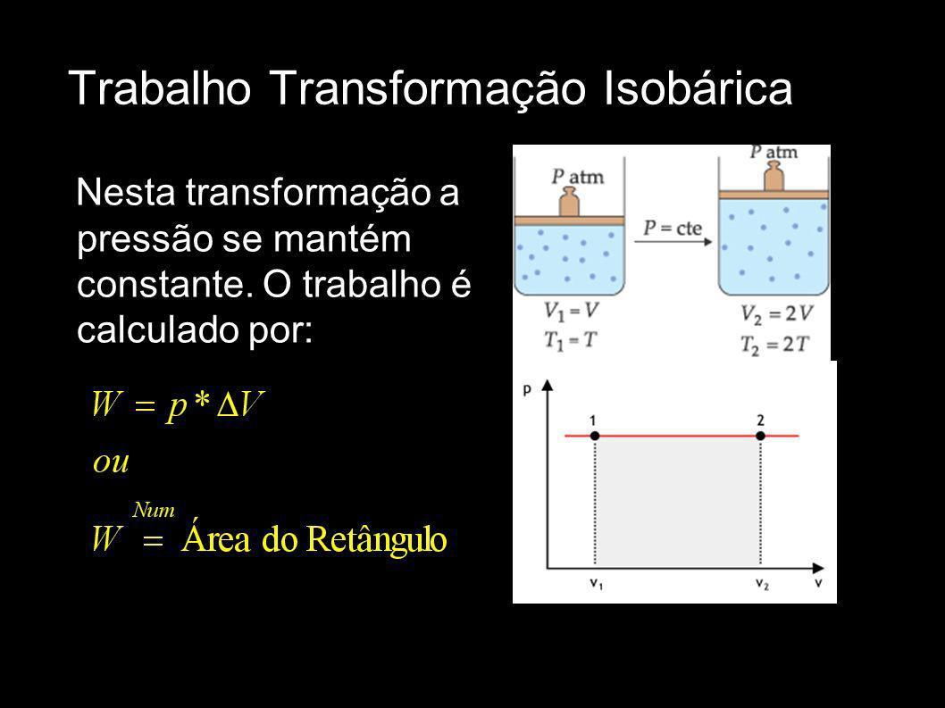 Trabalho Transformação Isobárica