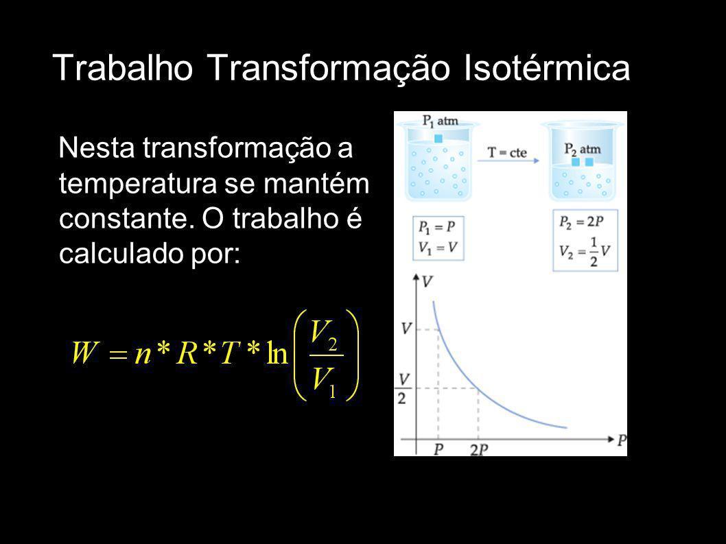 Trabalho Transformação Isotérmica