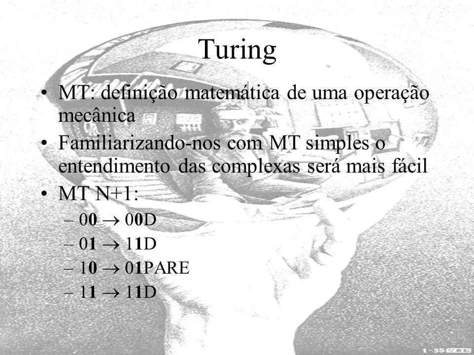 Turing MT: definição matemática de uma operação mecânica