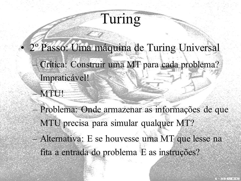 Turing 2º Passo: Uma máquina de Turing Universal