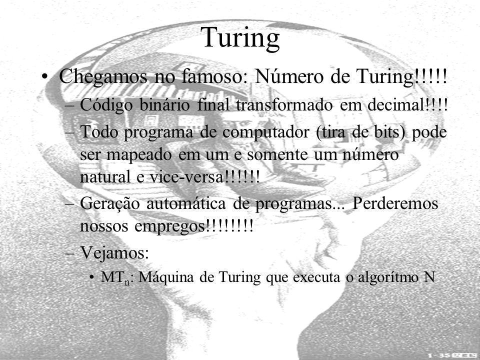 Turing Chegamos no famoso: Número de Turing!!!!!