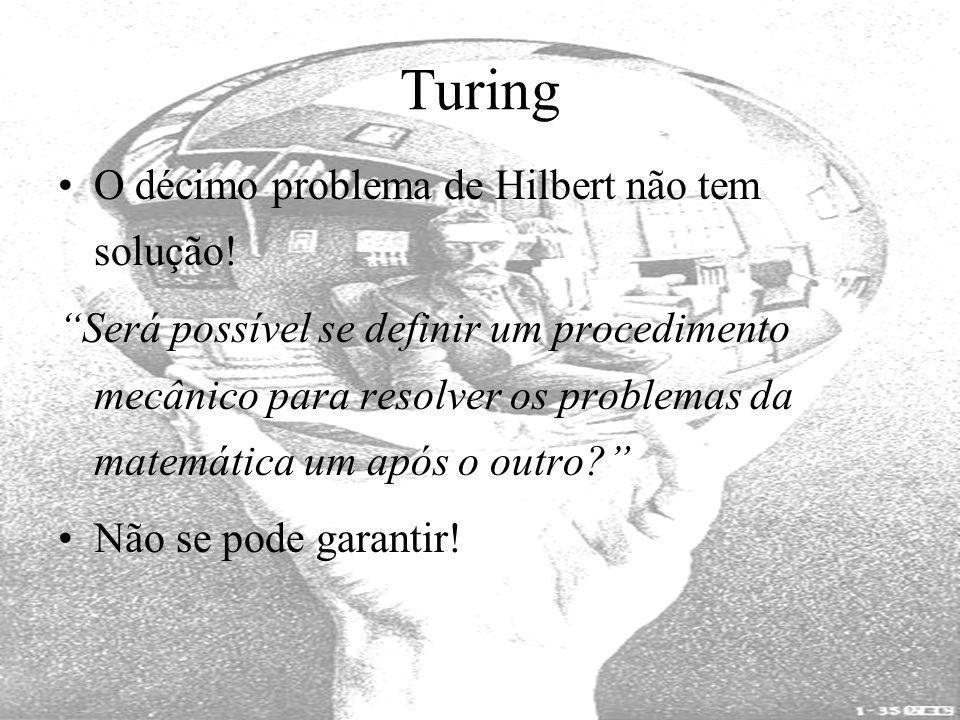 Turing O décimo problema de Hilbert não tem solução!