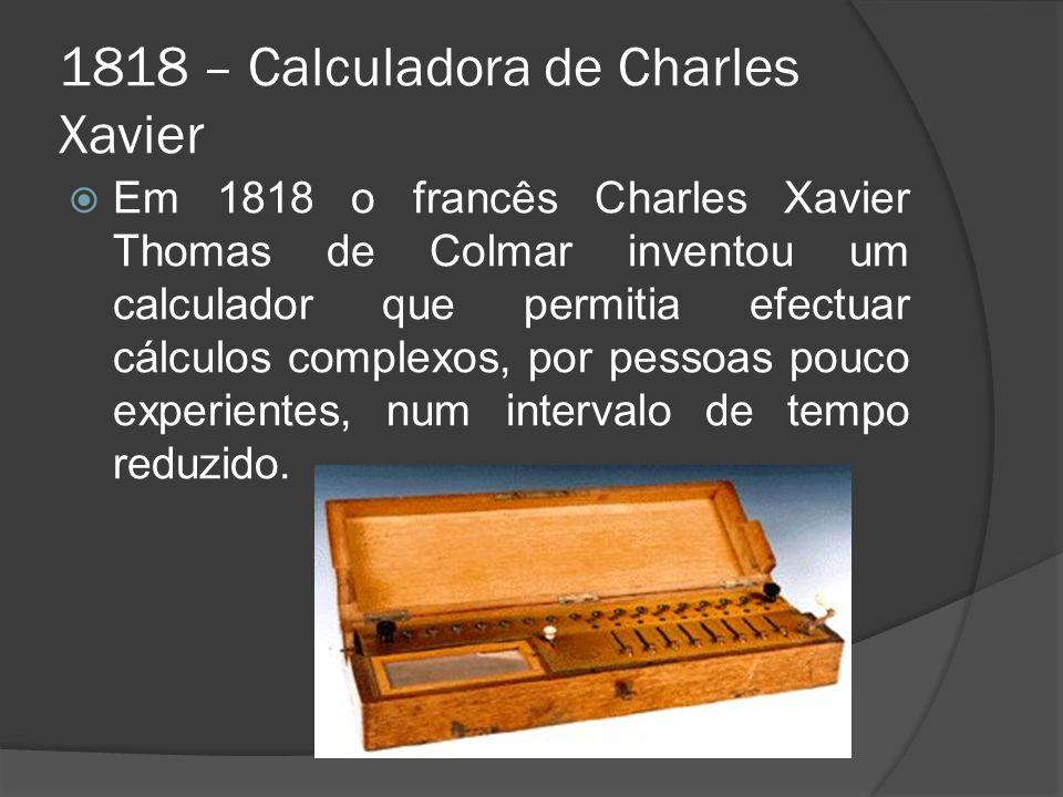 1818 – Calculadora de Charles Xavier
