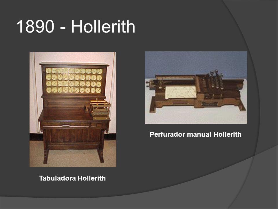 1890 - Hollerith Perfurador manual Hollerith Tabuladora Hollerith