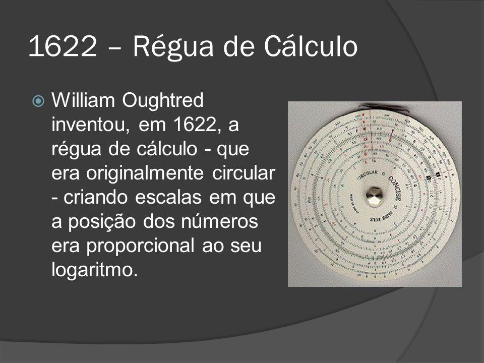1622 – Régua de Cálculo
