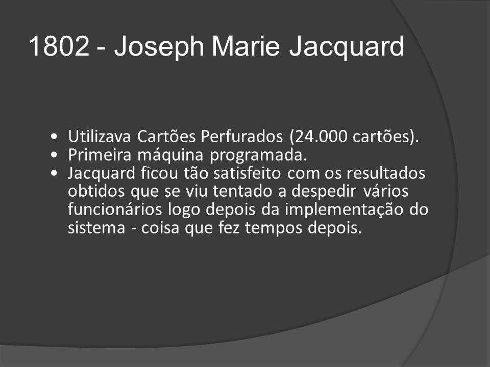 1802 - Joseph Marie Jacquard