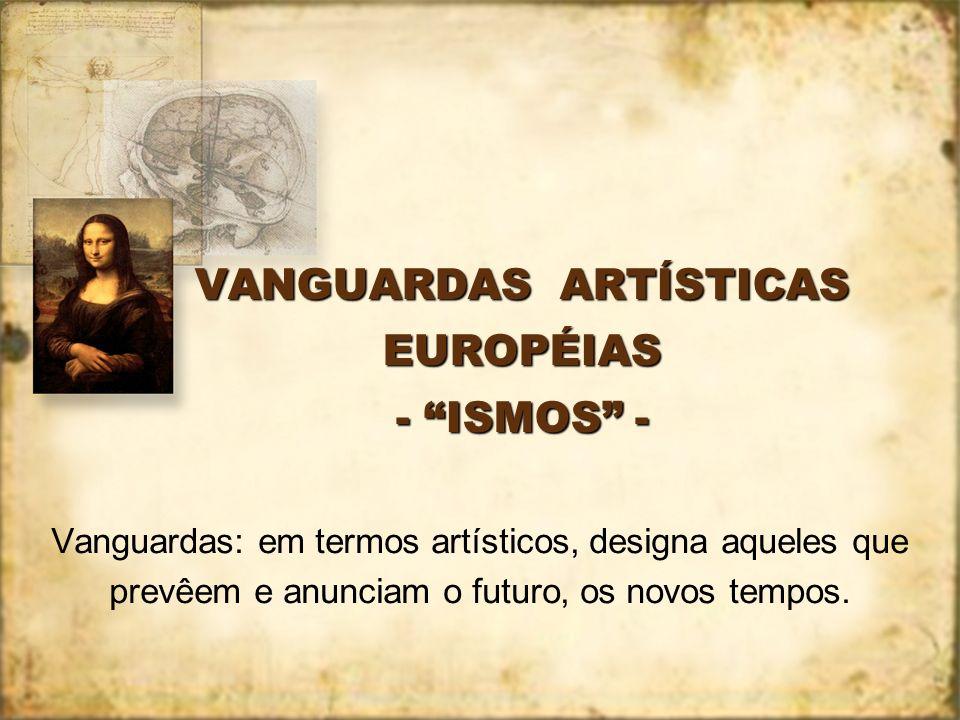VANGUARDAS ARTÍSTICAS EUROPÉIAS - ISMOS -